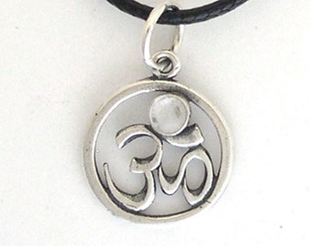 Om Pendant with Moonstone