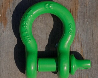 3/4 inch Single D Ring Shackle | Green