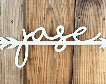 Child's Name /Family Last Name - Plasma Cut Metal Sign- Made to Order - Personalized
