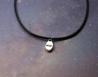 Wish Black Cord Necklace