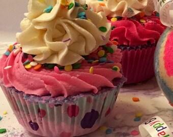 Happy Birthday Bath Bomb Cupcake