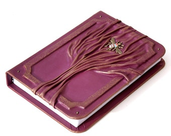 Leather journal, leather notebook, travel journal, journal with tree
