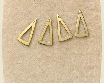 14 Karat Triangles for dangeling from earrings 14 Karat findings to make something special