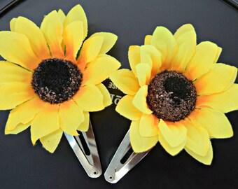 Sunflower Hair Clips