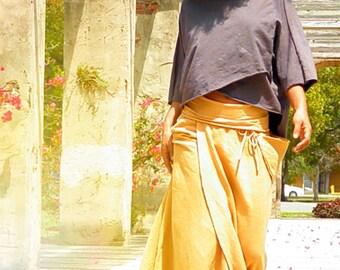 Hemp skirt custom made and hand dyed // organic clothing // eco-friendly // hemp clothing // wrap skirt