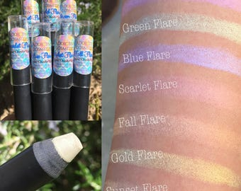 NEW! XL Flare Highlighter Stix- 100% All Natural Color Stix - For use on Eyes, Cheeks and Lips