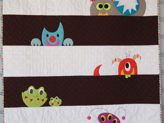 M Is For Monster Quilt Paper Pattern Will Be Mailed