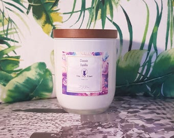 Classic Vanilla | Vanilla Hand poured soy wax scented candle