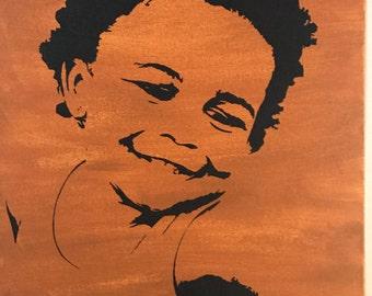 Silhouette Canvas Art, Family Portraits, Portrait Painting, Canvas Painting