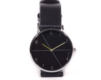 Shown in black on black-Black on black watch