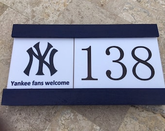 Premium ceramic house number sign/plaque, World's Greatest Grandpa Lives Here, Grandma