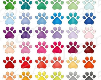 50% OFF Paw Print Clipart, Paw Print Clip Art, Dog Paw Print, Pet Paw Prints, Pet Lovers, Printables, Planner Stickers, PNG JPEG, Commercial