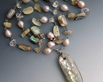 Abalone Pearl Citrine Sea Dream Necklace