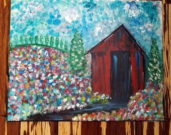 Red Barn Painting