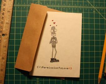 Robot Love Card
