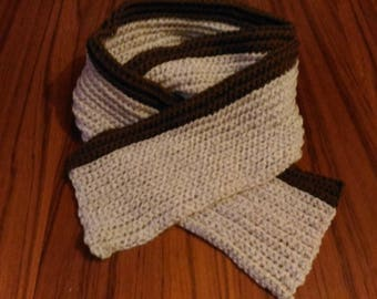 Mixed beige melange and Brown scarf