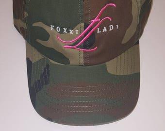 Camoflauge FoxxiLadi logo Hat