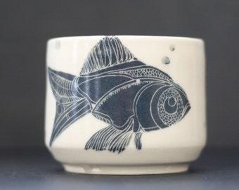 One of a Kind Porcelain Fish Mug