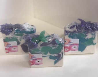 Sea Glass Soap/ Artisan Soap / Handmade Soap / Soap / Cold Process Soap