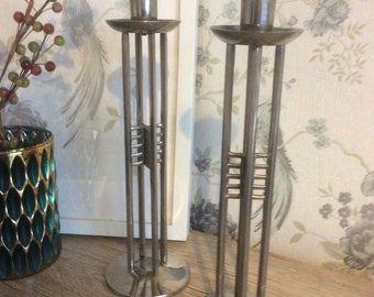 Gorgeous Ornate Candle Holders/Candle holder/Ornate Candle holder/ Silver coloured Candlesticks/Pair of Candlesticks/Candlestick holders