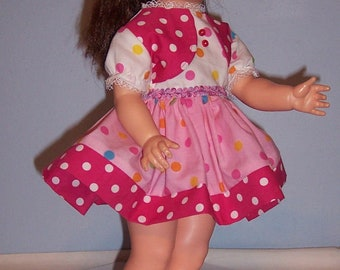 Little Sister Dress for 18 inch Pattite Ideal playpal doll
