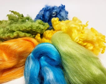 Fiber fun pack in yellows and blues