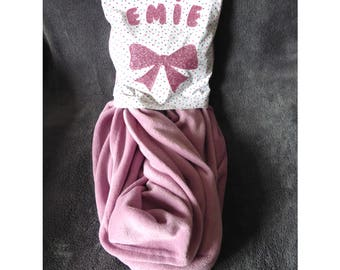 Personalized Pink Plaid pillow name E