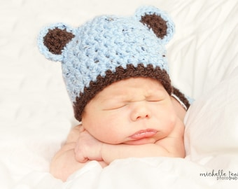 Download PDF crochet pattern 008 - My Little Bear hat - Size 0-3 months
