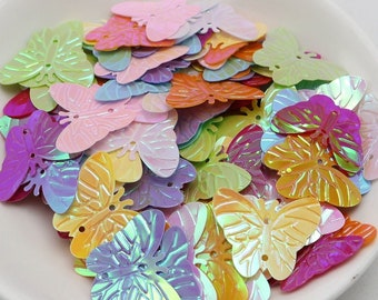 Butterfly Sequins-Assorted colors-20mm-100 EA.