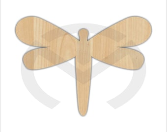 Dragonfly - 01600- Unfinished Wood Laser Cutout ,  Door Hanger, Home Decor, Ready to Paint & Personalize, Summer, Various Sizes