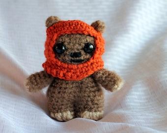 Handmade Star Wars Ewok Crochet Amigurumi Figure