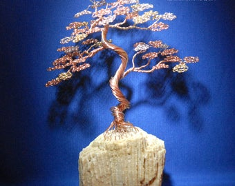 Bonsai Wire Tree Sculpture in an Upright Informal style