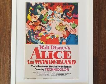 Exclusive Framed Vintage Disney Alice in Wonderland Print #236