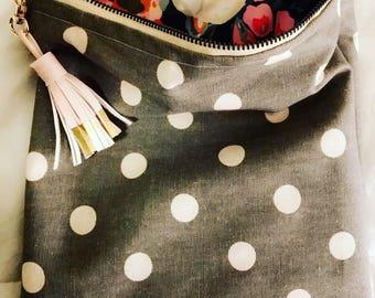 Makeup Bag Floral Polka Dot