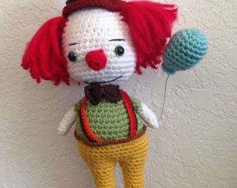Crochet clown amigurumi