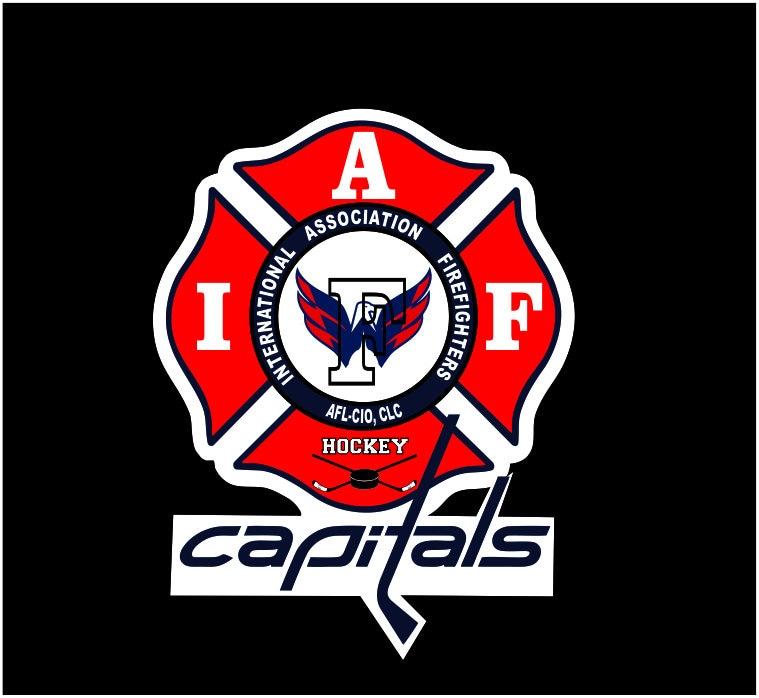 IAFF Washington Capitals Hockey Team Car Decal for Union