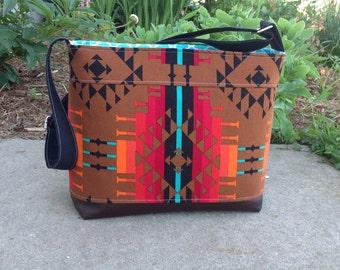 DSLR padded camera bag aztec  crossbody strap, photography, wedding photography, travel camera bag,camera built in insert