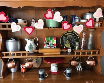 Handmade Felt Valentine's Day Hearts Banner