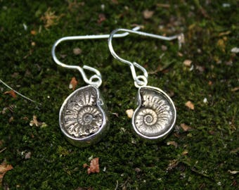 Solid Pyrite Sterling Silver Earrings