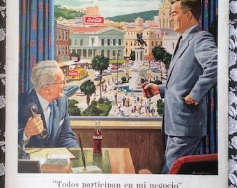 """Coca Cola and """"Martini"""" - Double Vintage Ad (1959)"""