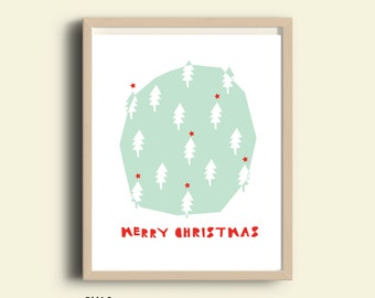 Merry Christmas, christmas poster, holidays print, printable poster, christmas decor, christmas wall art, instant download, printable art