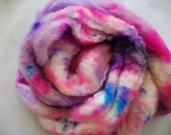 Handpainted BFL Wool Roving - 2 oz.  - Twilight - Spinning Fiber