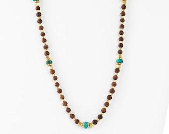 Hari Turquoise Brass & Tulasi