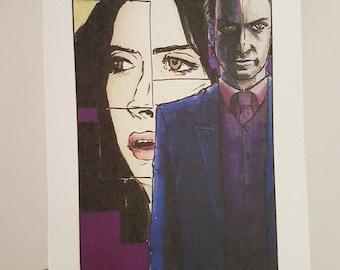 Villain Clans Kilgrave (Jessica Jones) - A6/A5/A4 print on acrylic paper