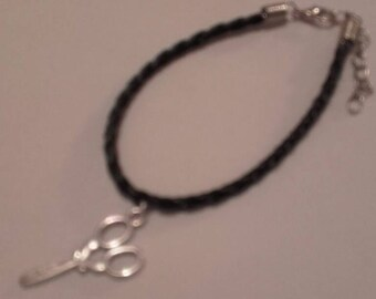 Scissors charm bracelet