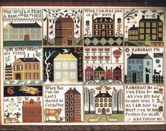 Houses of Hawk Run Hollow by Carriage House Samplings Counted Cross Stitch Pattern/Chart