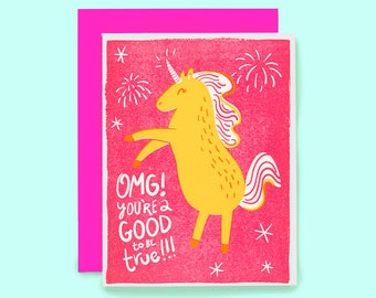 Unicorn Card - Birthday Card - Best Friend Card - Best Friend Birthday - Funny Birthday Card - Birthday Unicorn - Unicorn Birthday Card