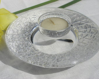Candle Holder - Orrefors - Glass