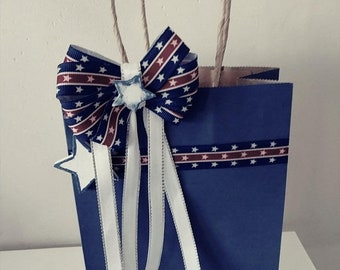 SALE All Occasion Gift Bags,Denim Gift Bags,Embellished Gift Bags,Gift  Bag With Bow,Birthday GIft Bag,Gift Wrapping,