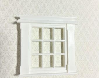 "Dollhouse Miniature 1:24 Half Scale Georgian 9 Pane Window Fits 1 1/2"" x 1 7/8"""